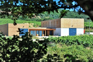 Chai architecture contemporaine Languedoc Domaine Allegria